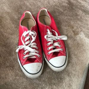 Shoes - Red Converse Sneakers